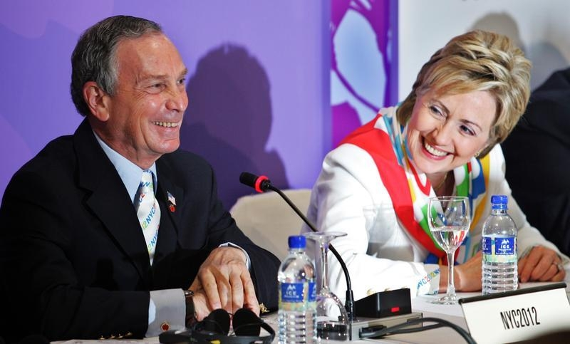 Image result for images of michael bloomberg and hillary clinton