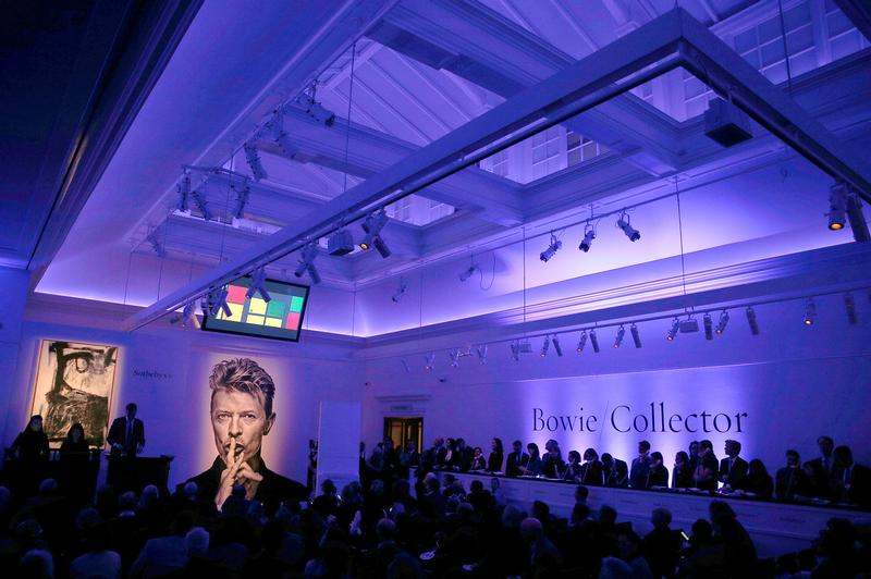 Whopping sales at auction of Bowie's art