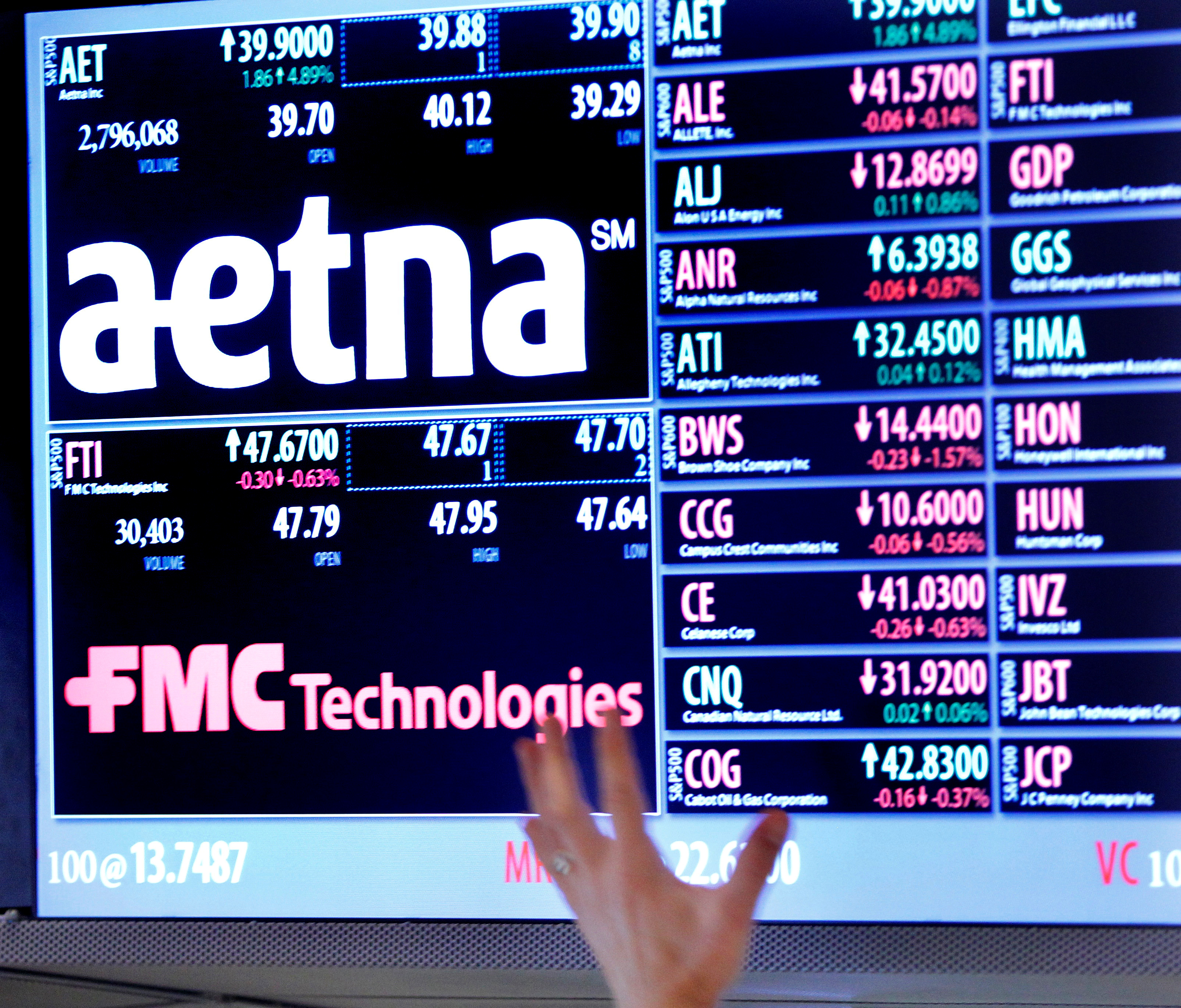 Judge blocks Aetna's $37b deal for Humana
