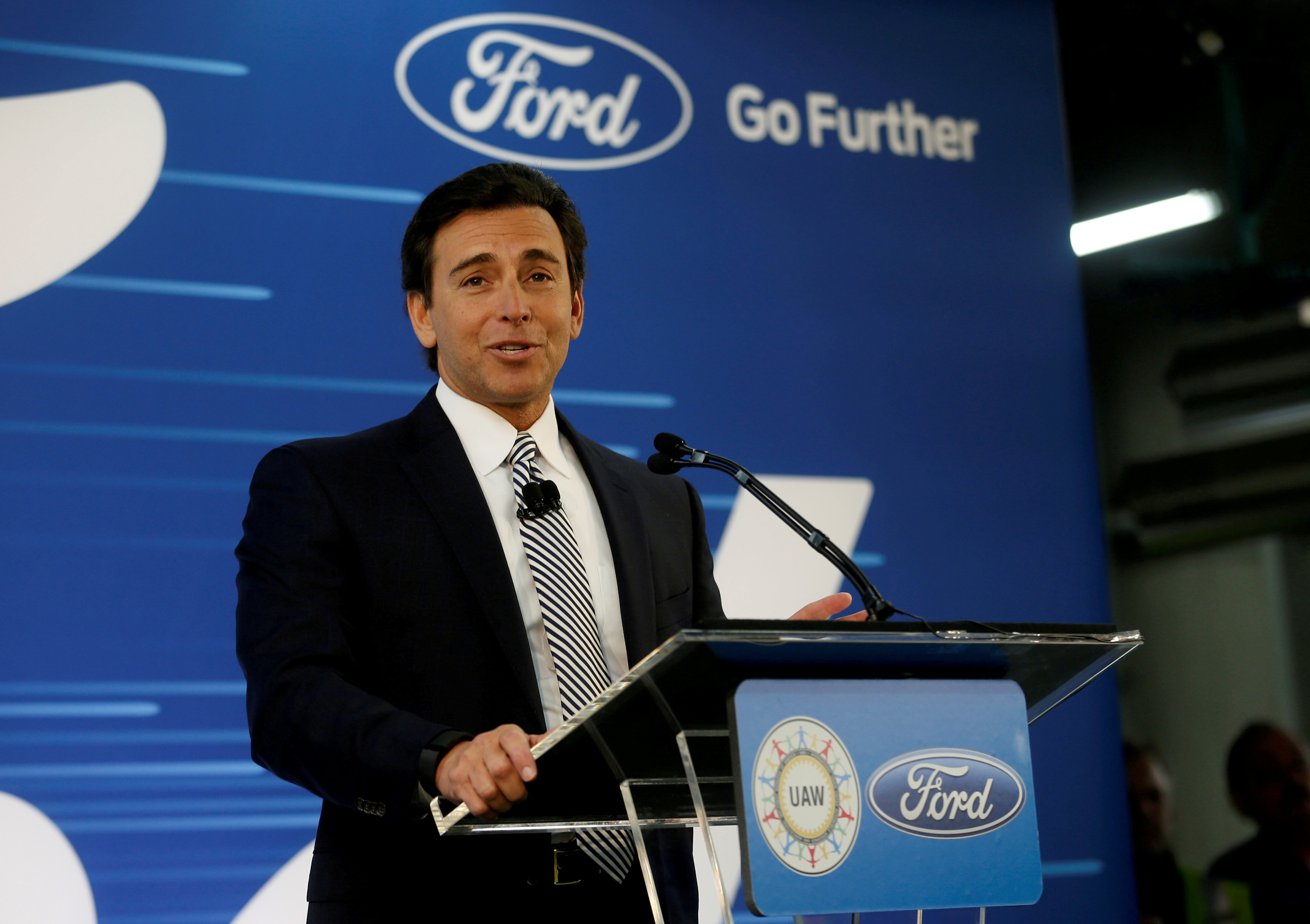 Ford to replace CEO Mark Fields with James Hackett